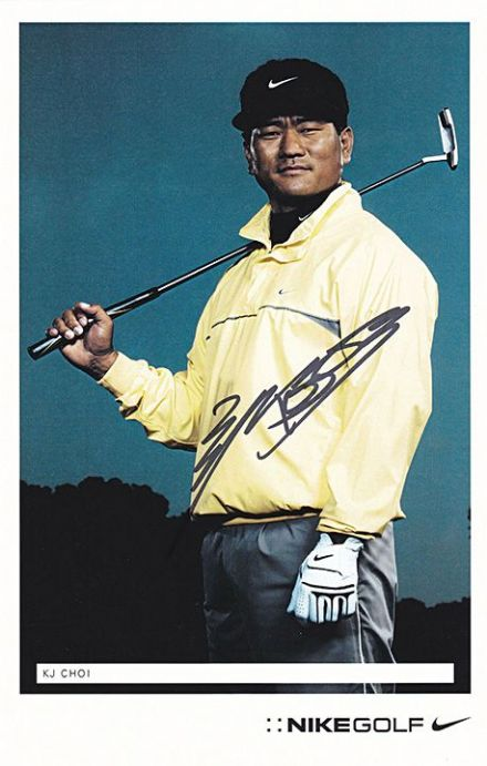 KJ Choi, South Korean golfer, signed 8.5x5.5 inch photo.